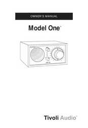 Tivoli Audio Henry Kloss Model One Blue Radio M1BLU User Manual