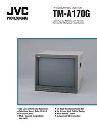 "JVC TMA170G 17"" Colour video monitor TMA170G User Manual"