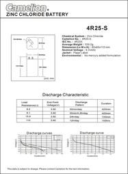 Camelion 4R25-SP1G 10100125 Data Sheet
