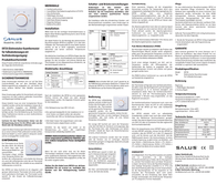 Salus Controls Room thermostat Structure 24 h mode 5 up to 26 °C 112200 Leaflet