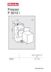Miele F 9212 I F9212I Leaflet