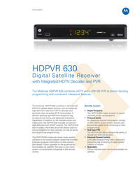 Shawdirect HDPVR 630 HDPVR630 Data Sheet