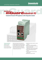 Innominate mGuard Industrial RS w/VPN-10 + ISDN BD-501020 Leaflet