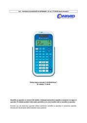 Texas Instruments TI-34 MultiView TI-34 Data Sheet