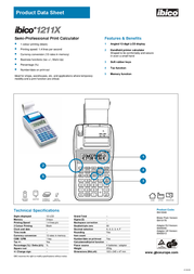 GBC Calculator 1211X IB410178 Product Datasheet