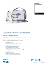 Philips AVENT DECT baby monitor SCD498/00 SCD498/00 Leaflet