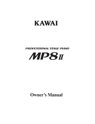 Kawai MP8II User Manual