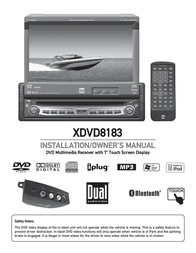 "Dual 7"" TFT LCD Receiver XDVD8183 User Manual"