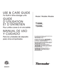 Thermador T18IW User Manual