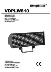HQ Power LED wash effect 216 x 10mm LEDs VDPLW810 User Manual