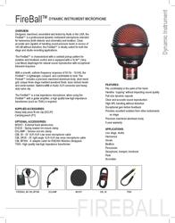 Audix Fireball AUDIX FIREBALL Leaflet
