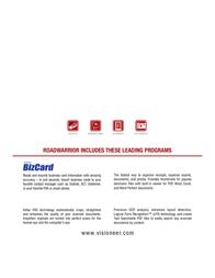 Visioneer RoadWarrior 90-7044-700 Leaflet