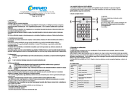 GEV Stainless steel combination lock IP54 MKP-1110 Data Sheet