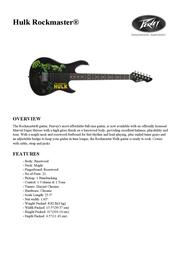 Peavey Electronics Hulk Rockmaster 03013230 Leaflet