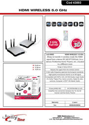 G.B.S. Elettronica 43003 Leaflet