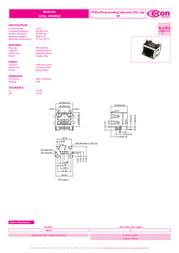 Econ Connect M8L1G1, Pin RJ45 Socket, horizontal mount Metal M8L1G1 Data Sheet