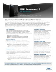Roxio Retrospect Desktop 8.0, 3u, Mac BZ10A8000 Leaflet