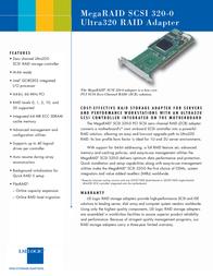 LSI MegaRAID SCSI 320-0 MRSCSI320-0 Leaflet
