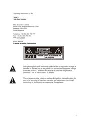 Rel Acoustics S2SUB User Manual