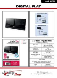 G.B.S. Elettronica Digital Flat 41028 Leaflet