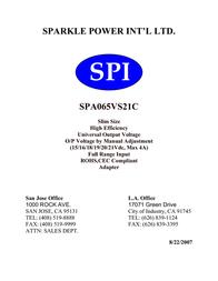 Sparkle Technology SPA065VS21C R-SPA065VS21C User Manual