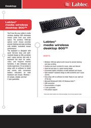 Labtec Media Wireless Desktop 800 920-000304 Leaflet