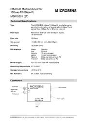 Microsense MS410501 Leaflet