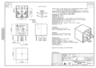 Kraecker Kräcker 12 Vdc Automotive Relay 15 A 15.2100.10 Data Sheet