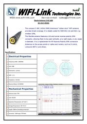 WiFi-Link 2.4GHz 5dBi Antenna Mage Base ( SMA male RP) WL-MBDA-5-RSMA Leaflet