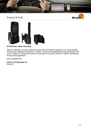 Brodit Passive Holder,Tilt Swivel 875180 Leaflet
