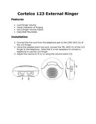 Cortelco 000123ELTPAK Leaflet