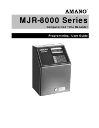 AMANO MJR-8000 Computerized Calculating Time Clock User Guide