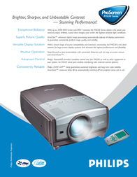 Philips ProScreen PXG30 LCD Projector LC1341 Leaflet