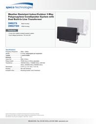 Speco DMS-3TS DMS-3TS BLACK Leaflet