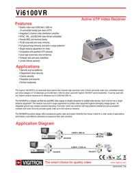 Vigitron VI6100VR Leaflet