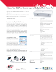 ADS Tech Instant Music RDX-150 Leaflet