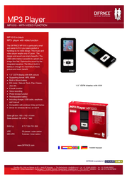 Difrnce MP1100 2GB Mp3 Player MP11002G Leaflet