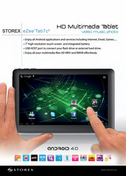Storex eZee'Tab7c2, 4GB TV21400 Leaflet