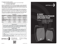 Dayton Audio io525b Leaflet
