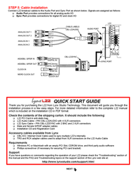 Lynx Audio Cable Leaflet