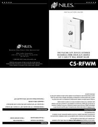 Niles Audio C5-RFWM Leaflet