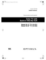 Optimus 16-422 User Manual