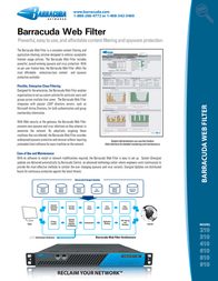 Barracuda Networks Web Filter 910 BYFI910A Leaflet
