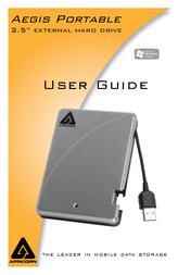 Apricorn Aegis Portable - Firewire - 160GB A25-FW-160 User Manual