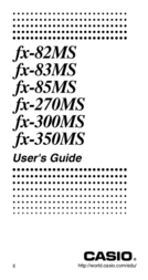 Casio FX-85MS User Manual
