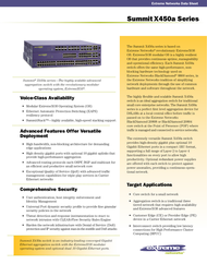 Extreme networks Summit X450a-48t 16157 Data Sheet