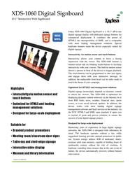 Iadea XDS-1060 Leaflet
