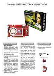 Gainward BP7600GT-256-TV-DVI 471846200-7852 Leaflet