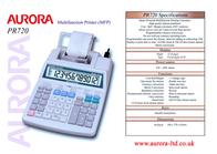 Aurora PR720 Leaflet