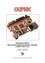 Olimex Open Source Hardware Embedded ARM Linux Single board computer with i.MX233 ARM926J @454Mhz IMX233-OLINUXINO-MAXI IMX233-OLINUXINO-MAXI Data Sheet